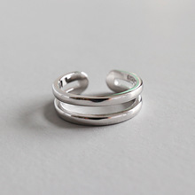 лучшая цена HFYK 2019 New Joint Ring 925 Sterling Silver Ring For Women Small Ring With Double Opening Silver Jewelry bague femme argent 925