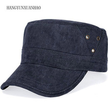 Solid Color Black Cap For Men Washed Cotton Baseball Caps Outdoor Sports Flat Top Hat Unisex Adjustable Male Army Cap Snapback [ding han] unisex cotton baseball cap board flat top caps for men women letters pure color snapback travel sun hat wholesale