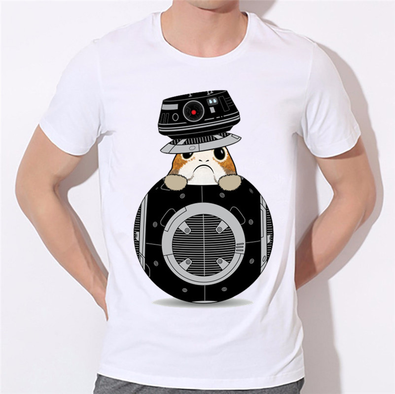 New Arrival,Movie Animal Porgs Print T-shirts For Men and Women Summer Short Sleeve O Neck T Shirts Unisex Casual Shirts,HCP1726