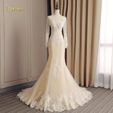 Loverxu Long Sleeve Mermaid Wedding Dresses