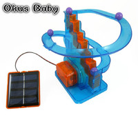 2018 Creative solar toys diy children assembled scientific experiments favorite track ball solar toys kids