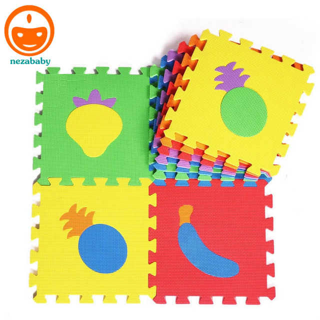 10PCS EVA Puzzle Mats Baby Play Carpet Mats Fruit Vegetable Baby Foam Floor  Mat Baby Educational