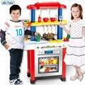 Nueva play juego de cocina de plástico abs niño fruta cocina cocinar toys función play niños cosplay ablility desarrollar juguete educativo