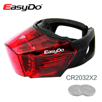 EasyDo Rear Bike Light Seatpost Lamp Led Velo Bicycle Taillight Night Riding Safety Waterproof Cycling Accessories