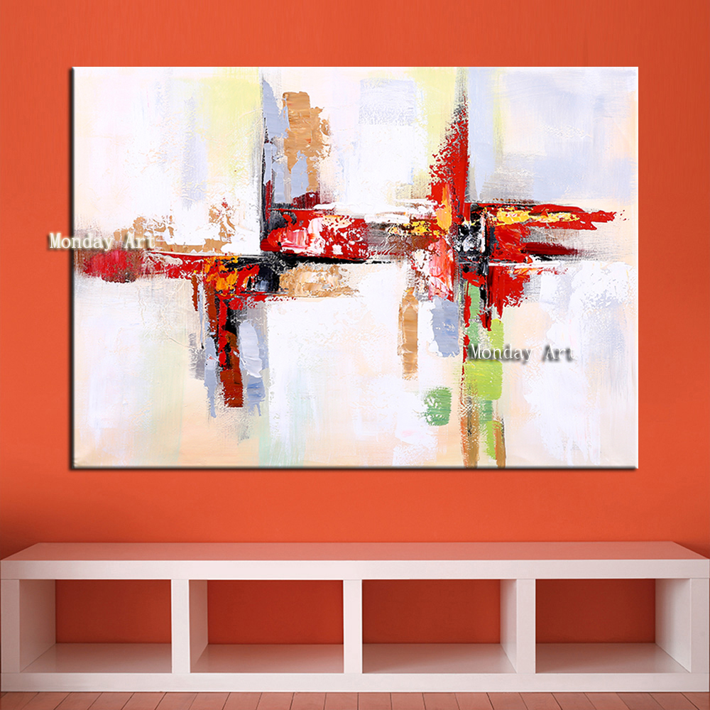 388 Wall-Art-Hand-Painted-Modern-Abstract-Red-Oil-Painting-Wall-Decorative-Canvas-Art-Picture-for-living