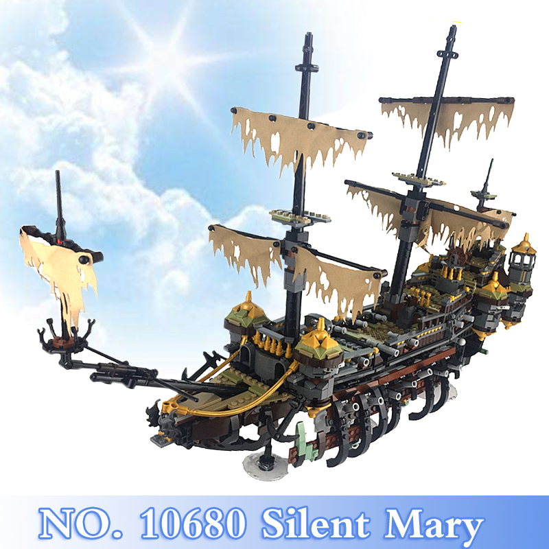 Pirates of the Caribbean Series 2344Pcs Silent Mary Figures Building Blocks Bricks Set Children Toys Model Kits Compatible 71042 2017 new 10680 2324pcs pirate ship series the slient mary set children educational building blocks model bricks toys gift 71042