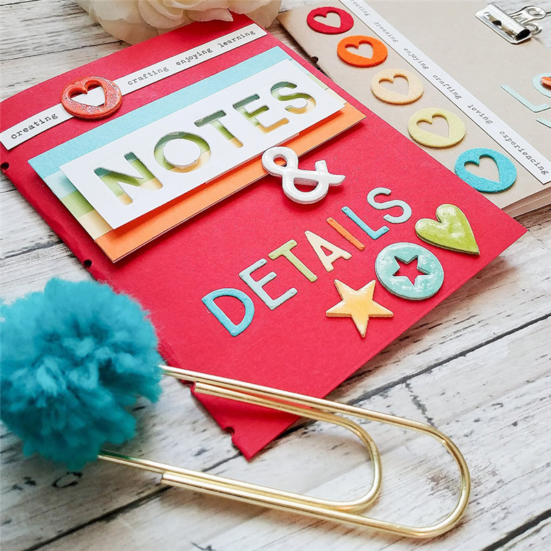 DiyArts Dies Note Letters Metal Cutting for Craft Scrapbooking Die Cut Cover Card Making Stencil Photo 2019