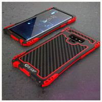 Hybrid Armor case for samsung galaxy note 9 note9 cover Shockproof Metal Bumper Carbon Fiber outdoor Heavy Duty Rugged Shell