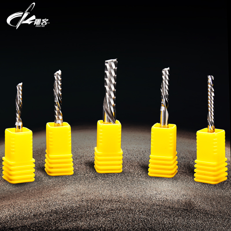 1PCS 6mm Down Cutter Left Spiral Bit CNC Router Tool  One Flute Choose size acrylic Aluminum carving frezer cnc mill 1pcs 12mm shk one flute end mill cutter spiral bit cnc router tool single flute acrylic carving frezer