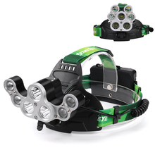 NEW Adjustable 50000 LM XM-L T6 7X LED Headlamp Ultra Bright 18650 Battery Hunting Fishing Torch +USB Cable