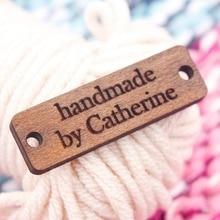 Hat Wood Tags, Custom Wooden Labels,  Handmade, Personalized ,Handmade, Knitting Crochet (WDBQ71)