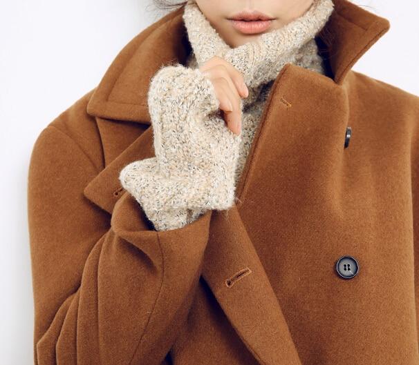 Women's brown wool coat – Novelties of modern fashion photo blog