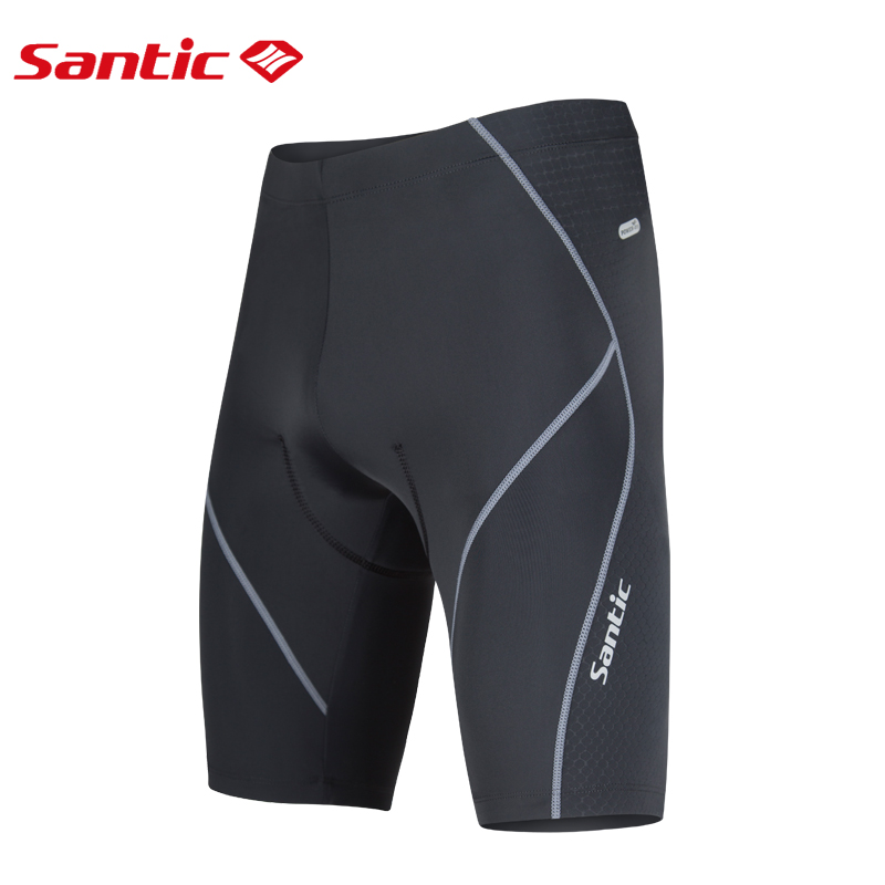 Santic Men Cycling Padded Shorts Coolmax 4D Pad Shockproof Italy Imported Cushion Anti-pilling Cycling Clothings Short