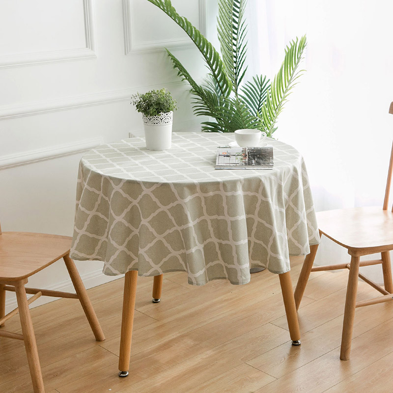 Image 3 - Nodic Print Round Tablecloth Dining Table Cover Obrus Tafelkleed Cotton Table Cloth Wedding Party Banquet Hotel Home Decoration-in Tablecloths from Home & Garden
