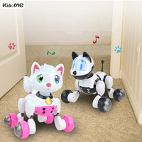 Voice Control Mode Sing Dance Smart Dog Cat Robot Toy Vehicles Pet Interactive Program Dance Walk Robotic Animal Children Toys