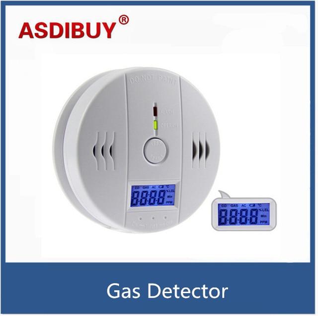Wireless CO Carbon Monoxide Detector Alarm High Sensitive Gas detector Digital Backlight LCD Alarm Sensors Home Security
