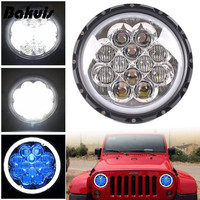 Bakuis 4X4 Offroad accessories 5D 60W White / Blue Halo 7 inch Round Car Led Headlight For Jeep Wrangler Hummer JK