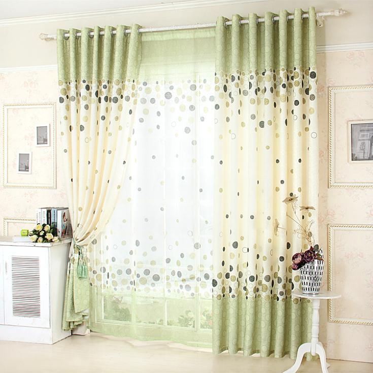 Fresco jardín Simple cortinas para el dormitorio comedor sala de ...