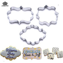 Hot Dijual 3Pcs Cookie Cutter Set DIY Pastry Fondant Cetakan Stainless Steel Sugarcraft Kue Cetakan Dekorasi Bingkai Pemotong(China)