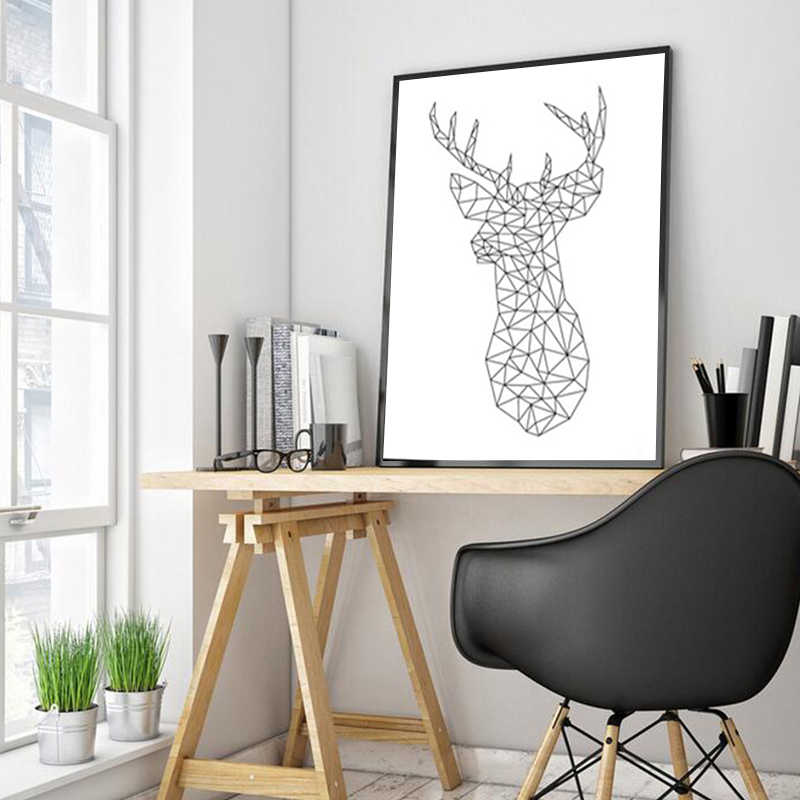 Abstract Animal Drawing Line Nordic Poster & Print Modern Canvas Painting Wall Art Wall Picture Love Abstract Bedroom Home Decor