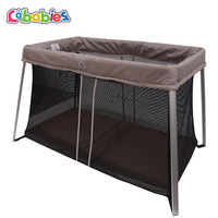 Multifunctional crib foldable ultra light baby play bed with mosquito net child bed