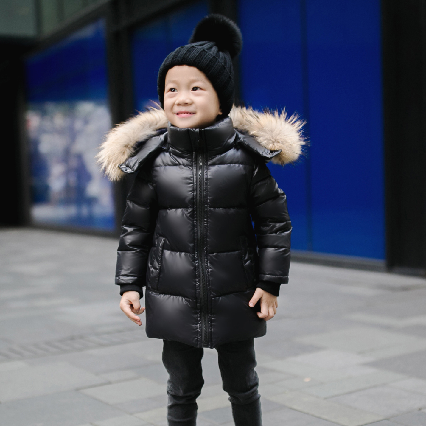 2017 winter children duck down coats real fur hooded parkas mid length clothing girls baby cotton padded trech coats warm jacket fashion children s long jacket fur collar padded jacket duck down baby boy girls winter thick warm new children s clothing 2 7t page 4