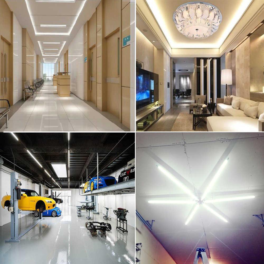 EU 220V Night Light Tube T8 12W 8W 60cm 30cm High Bright Replace Fluorescent LED Tube  Ceiling Wall Lamp Bar Light Home Lighting