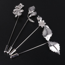 i-Remiel Fashion Silver Copper Butterfly Flower Leaf Pins and Brooches Suit Lapel Pin for Men Women Shirt Collar Accessories