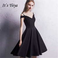 It's YiiYa Sales Sleeveless Sexy Black Cocktail Dresses Famous Designer High Quality Luxury Little Black Dress LX381