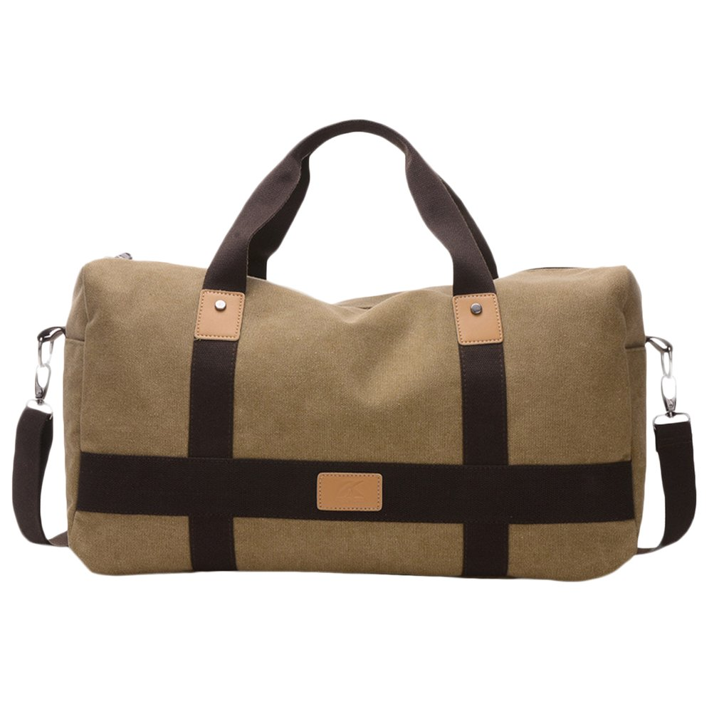Vintage Men Messenger Bag Canvas Patchwork Large Capacity Travel Tote Cross-body Classic ...