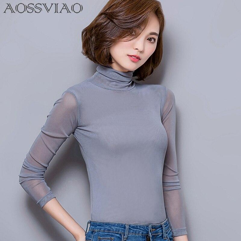 hosszú ujjú póló női felsőrész femme plusz méret női blúz - Női ruházat