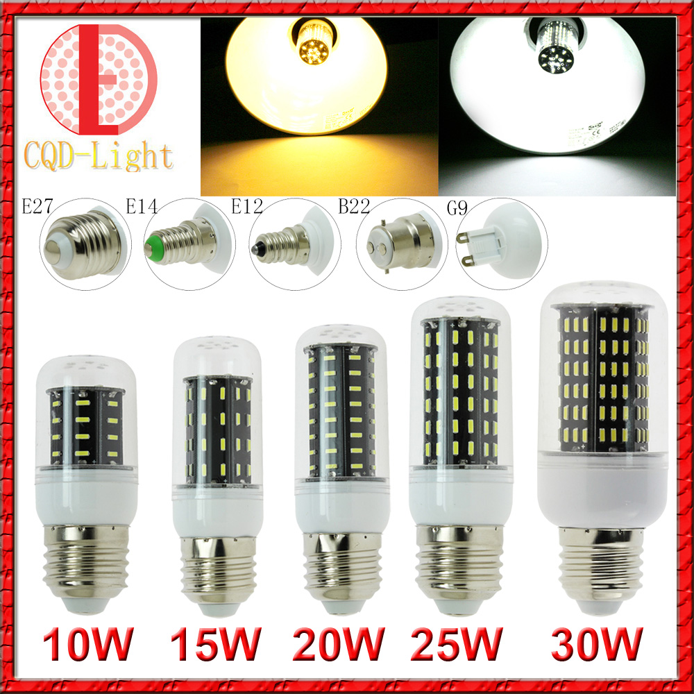 Ultra Bright LED 4014 SMD E27 E14 E12 B22 G9 LED Corn Bulb Chandelier AC 220V 110V  38LEDs 56LEDs 72LEDs 96LED 138LEDs Light