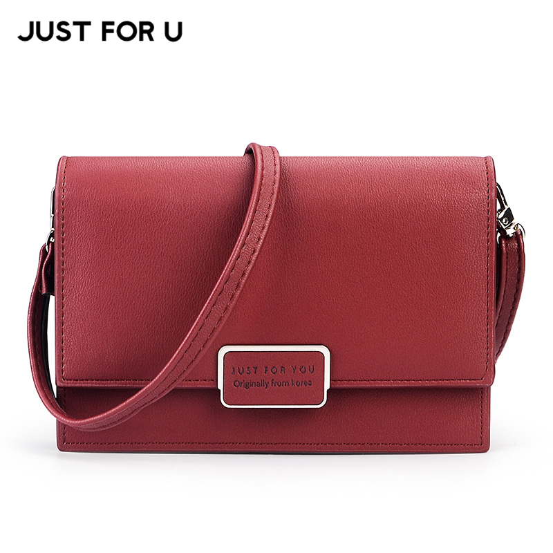 JUST FOR U Famous Brand Designer Small Flap Women Messenger Bag Soft Leather Female Shoulder & Crossbody Bags Ladies Purse Bag famous brand handbags small women flap messenger bags crossbody shoulder genuine first layer of cowhide leather shell bag female