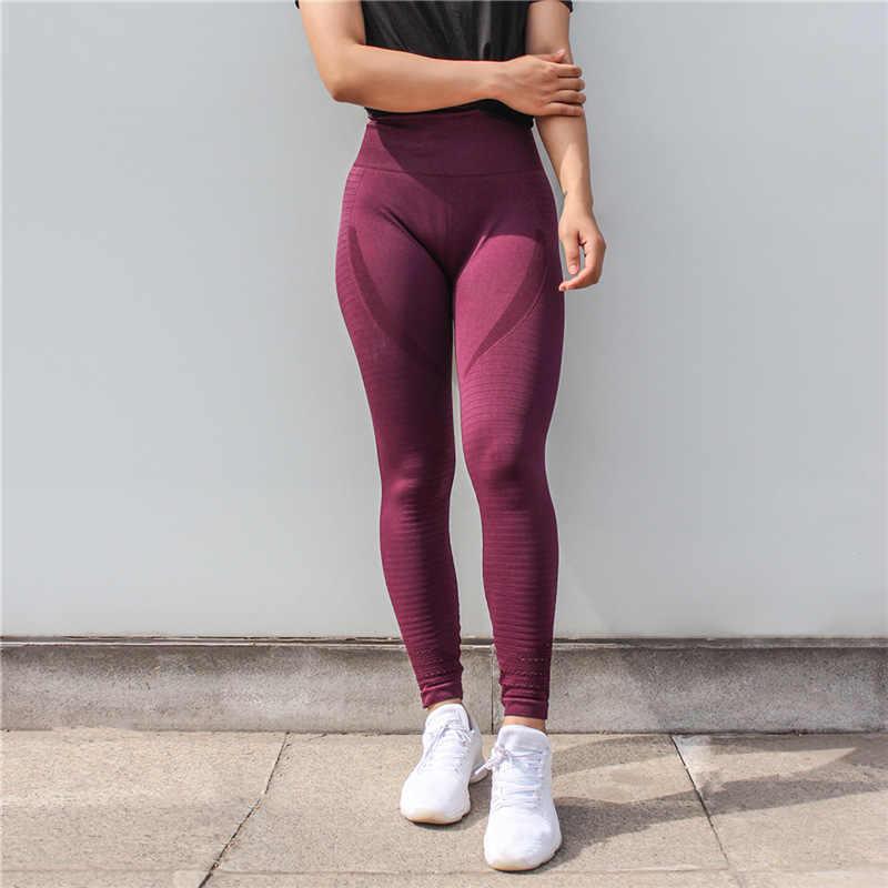 30d7baa4ad81c ... Difen Women Tights Gym Slim Yoga Pants High Waist Stretch Workout  Leggings Sports Wear Clothes Fitness ...