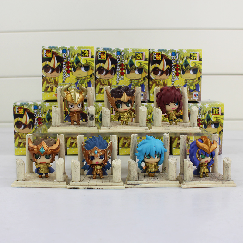 Image 3 - 7pcs/lot Seiya Shiryu Shun Hyoga Jabu Shaka Saga Kanon Knights of the Zodiac Figure Toys Anime Model Dolls-in Action & Toy Figures from Toys & Hobbies