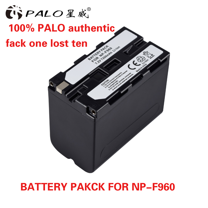 1pcs 7.2V 7200mAh Rechargeable Digital Battery NP F960 F970 for Sony NP-F960 NP-F970 Camera