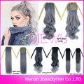 Most Popular Granny Hair Fake Ponytail Silver Gray Heat Resistant drawstring ponytail hairpieces synthetic clip in ponytail