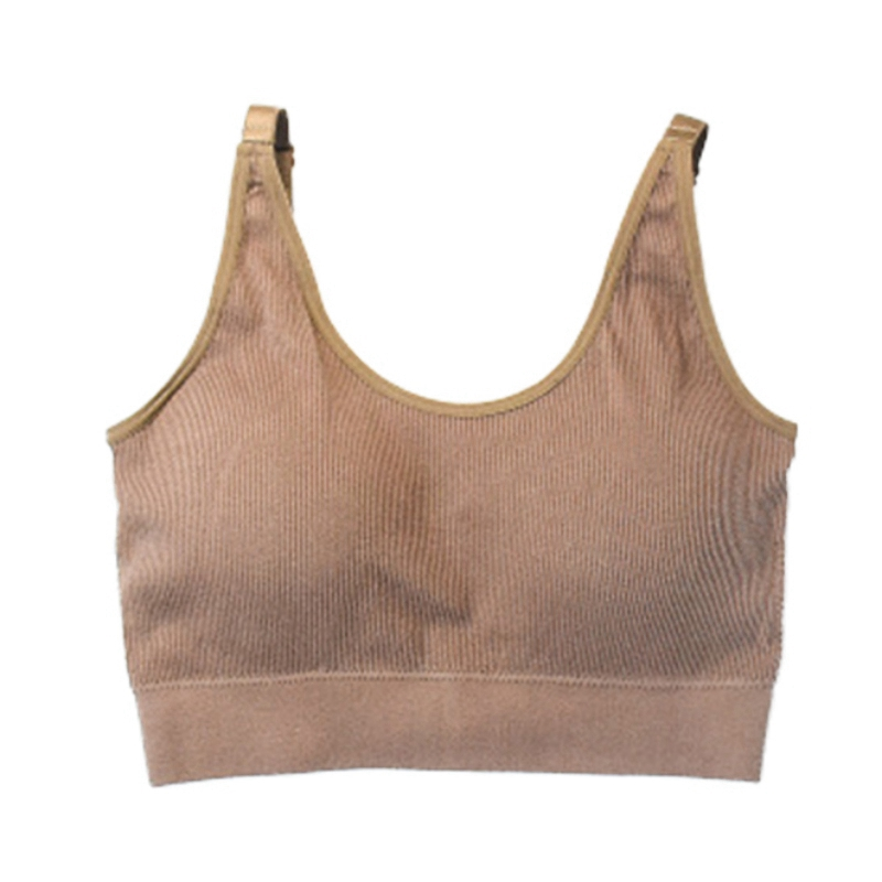 Women New Adjustable Sports Active Bra Soft Push Up Leisure Female Tank Top Seamless Breathable Ladies Vest Outdoor Solid Colors in Bras from Underwear Sleepwears