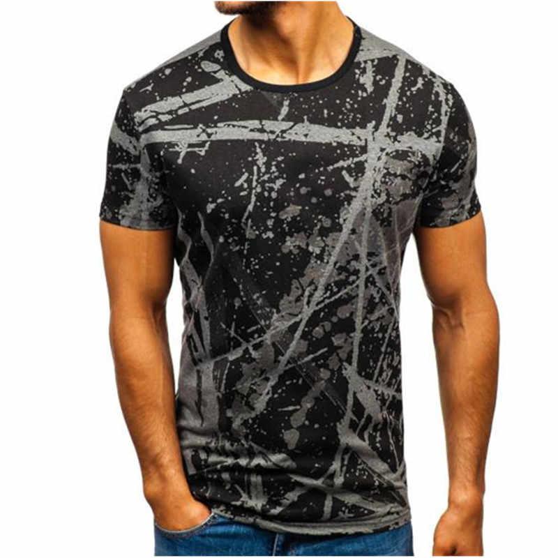WEI HENG Модная стильная камуфляжная футболка с 3D Цифровым принтом, повседневная спортивная футболка для фитнеса в стиле хип-хоп