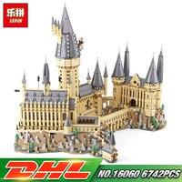 Лепин 16060 Гарри фильм Поттер серии 71043 Хогвартс замок набор строительные блоки кирпичи детские игрушки дом модель рождественские подарки