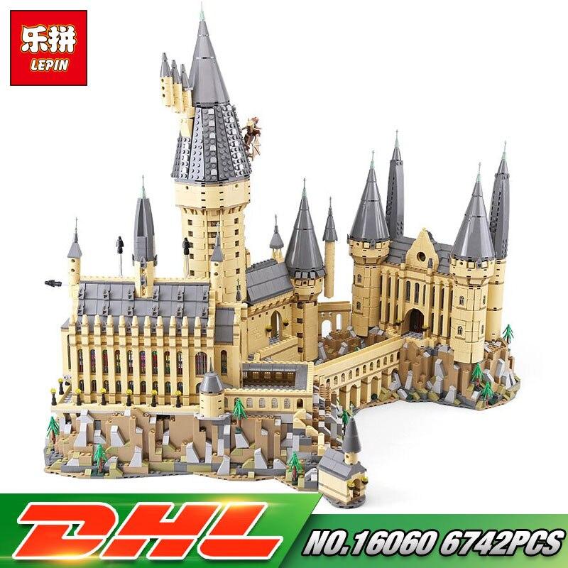 Lepin 16060 Harry película Potter Series El 71043 Hogwarts Castillo Set bloques de construcción ladrillos niños juguetes modelo regalos de navidad