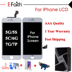 AAA Grade Display Or LCD Or Screen For iPhone 5 5s 5c For iPhone 7 7 Plus For iPhone 6 Touch Screen Digitizer With Free 3 Gifts