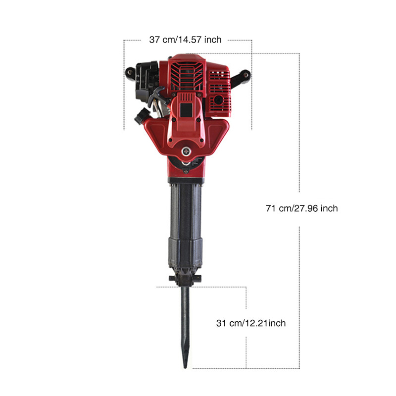 Two-stroke Pile Driver Pickaxe Tree Digging Machine Gasoline Planting Tree Excavation Trencher 2 Cycle Engine Garden Tool 52 CC (5)