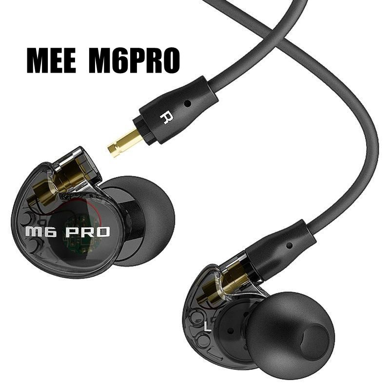 24 hours promotion! MEE Audio M6 PRO Noise Isolating Music In Ear Headsets Black/White Universal Fit Wired Earphones SE215 SE535  in stock 24hrs ship black white wired mee audio m6 pro noise isolating earphones in ear monitors headphones headset with box