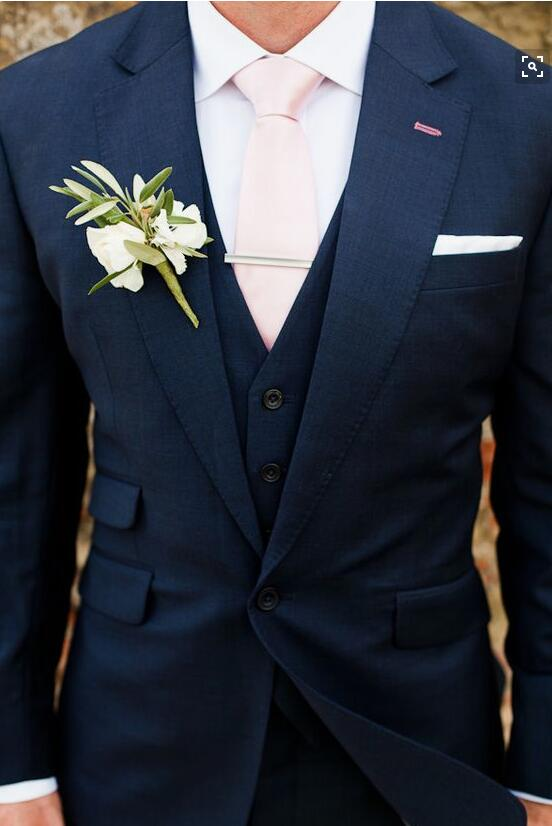 결혼식 / 파티 흑인 남성 정장 / 파티 드레스 / 라운지 정장 & 웨딩 턱시도 / 웨딩 정장 (자켓 + 바지 + 조끼 + 넥타이 + 손수건)