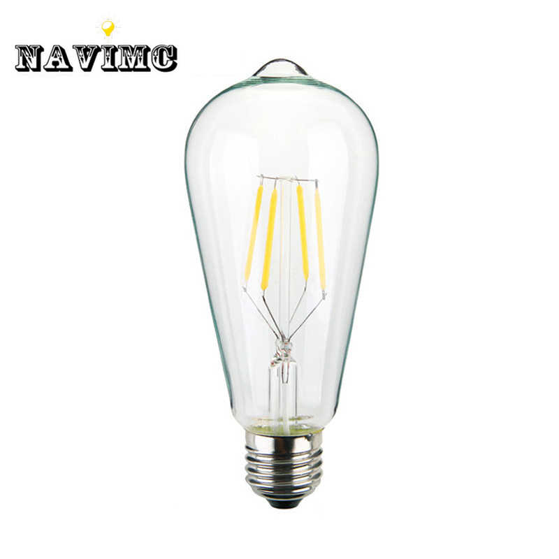 Retro lamp st64 vintage LED edison e27 LED bulb lamp 110 v 220 v 4 W filament Glass lamp