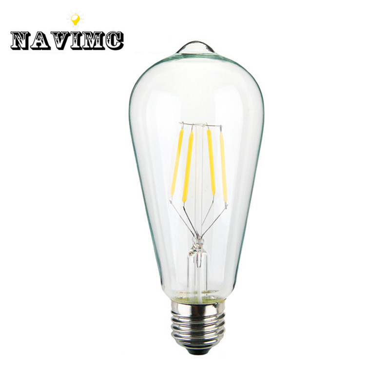 Retro lamp st64 vintage LED edison e27 LED bulb lamp 110 v 220 v 4 W filament Glass lamp retro lamp st64 vintage led edison e27 led bulb lamp 110 v 220 v 4 w filament glass lamp