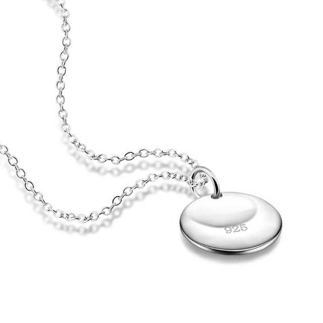 Simple round silver pendant fashion silver women necklacelid 925 simple round silver pendant fashion silver women necklacelid 925 silver lady necklacewholesale aloadofball Image collections