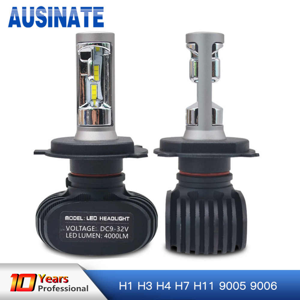 One Pair H11 H8 H9 H4 H1 Led H7 Car Headlight Bulb 50W 8000LM 6500K Auto led car light headlamp Fog Lamp bulbs replacement 12V