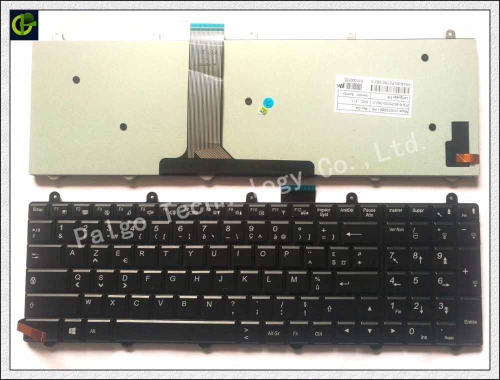 Backlit Keyboard For Clevo P150EM P170EM P370EM P570WM P170sm P177SM P150sm P370sm P375SM P270WM black French FR laptop heatsink for clevo p150em p150sm p170em p270wm3 p370em3 p570wm3 new original